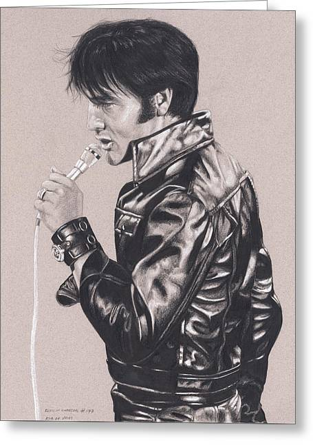 Elvis In Charcoal #177, No Title Greeting Card