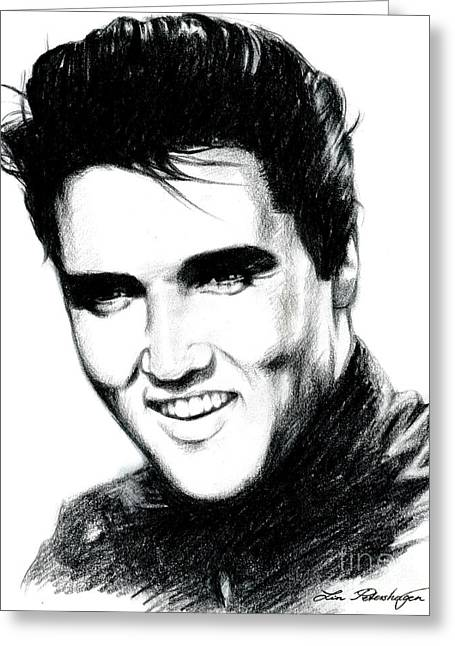 Elvis Greeting Card by Lin Petershagen