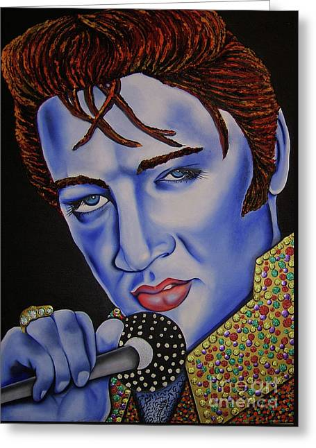 Elvis Greeting Card by Nannette Harris