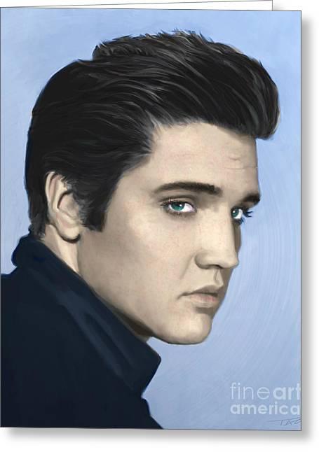 Elvis Greeting Card by Paul Tagliamonte