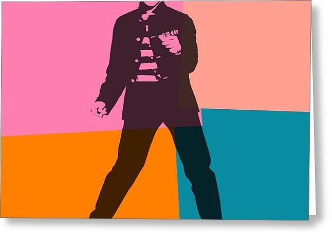 Elvis Pop Art Number 2 Greeting Card