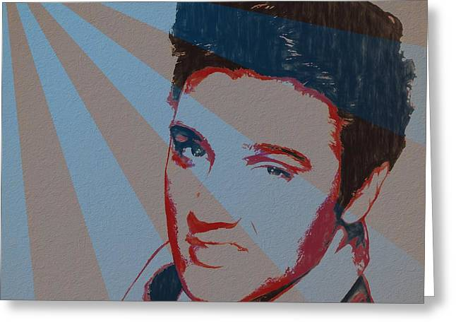 Elvis Pop Art Poster Greeting Card by Dan Sproul