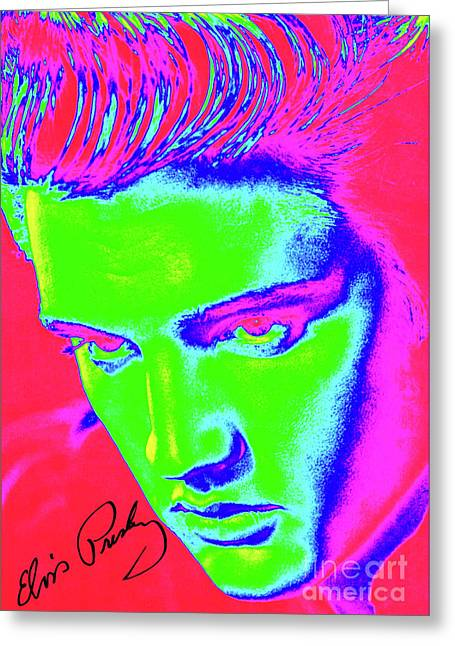 Elvis Preslely - Colourful  Greeting Card