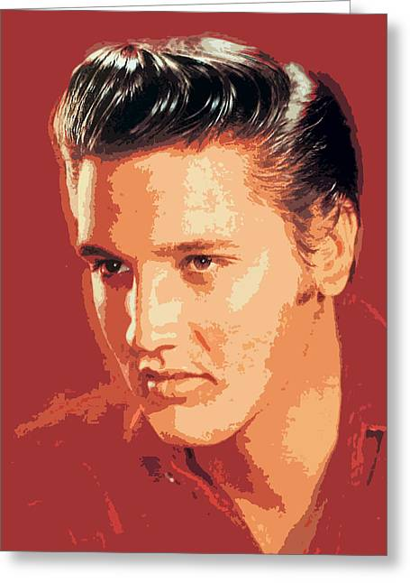 Elvis Icon Greeting Cards - Elvis Presley - The King Greeting Card by David Lloyd Glover