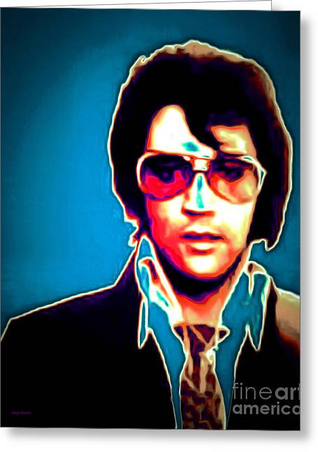 Elvis Presley 20151218 Greeting Card by Wingsdomain Art and Photography