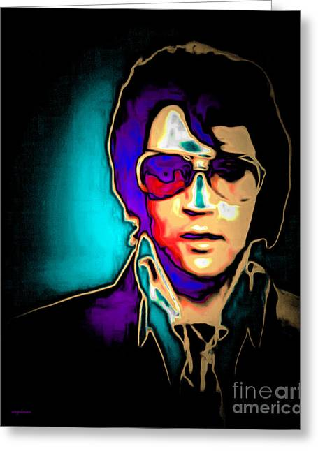 Elvis Presley 20151218v2 Greeting Card by Wingsdomain Art and Photography