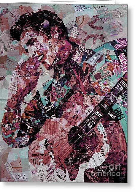 Elvis Presley Collage Art 01 Greeting Card by Gull G