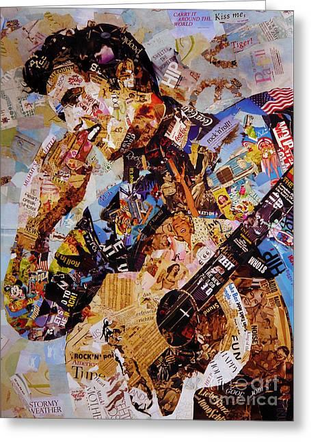 Elvis Presley Collage Art  Greeting Card