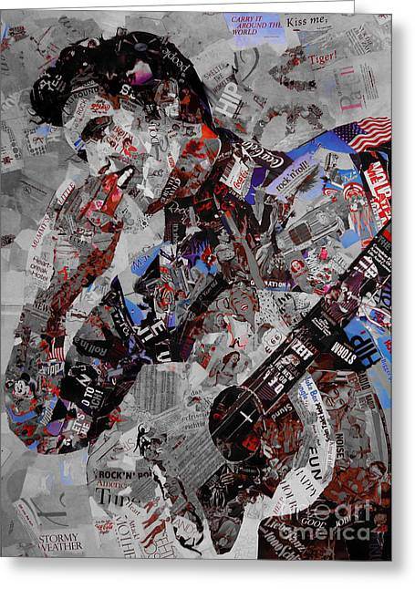Elvis Presley Collage Greeting Card by Gull G
