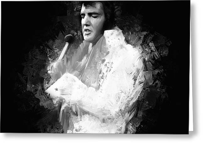 Elvis Presley  Greeting Card by Gull G