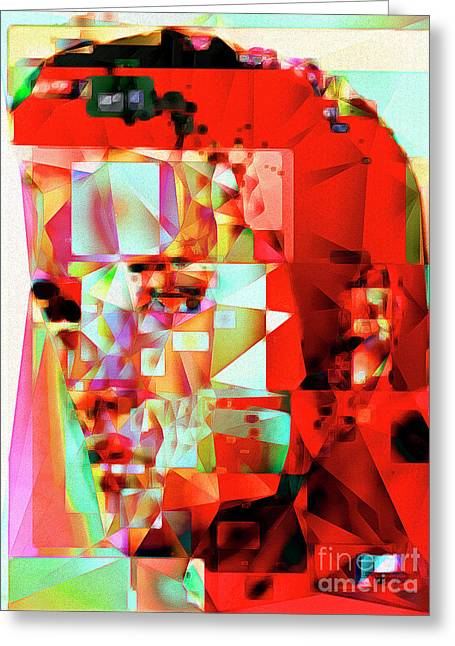 Greeting Card featuring the photograph Elvis Presley In Abstract Cubism 20170326 V3 by Wingsdomain Art and Photography