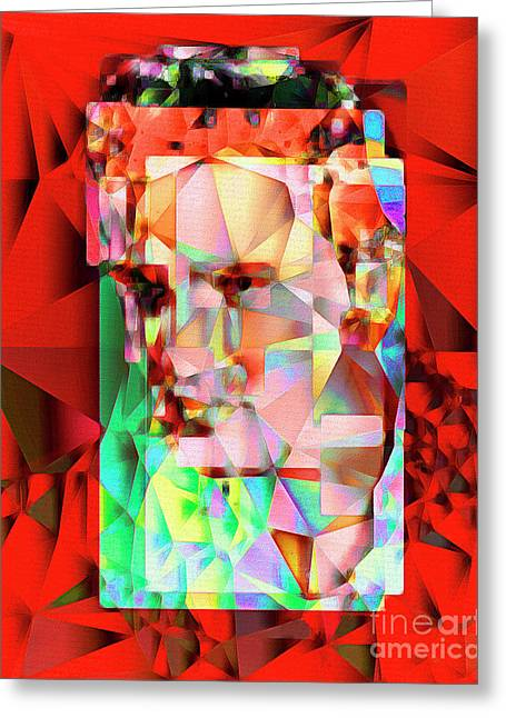 Greeting Card featuring the photograph Elvis Presley In Abstract Cubism 20170326 V5 by Wingsdomain Art and Photography