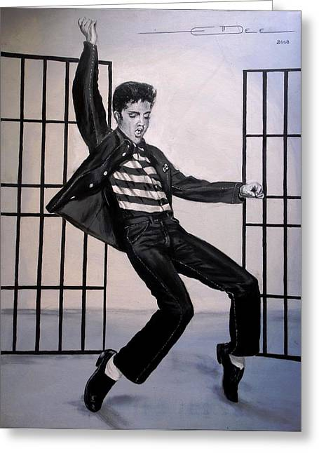 Elvis Presley Jailhouse Rock Greeting Card