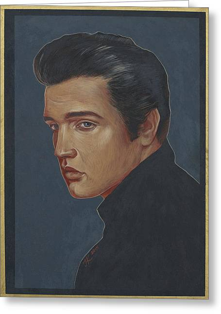Elvis Presley Greeting Card by Jovana Kolic