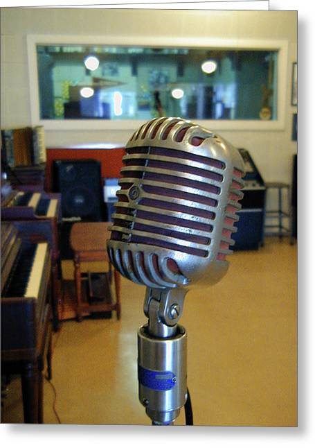 Greeting Card featuring the photograph Elvis Presley Microphone by Mark Czerniec