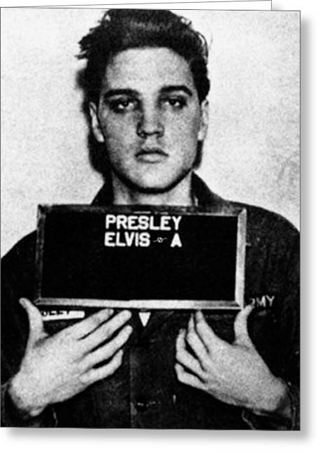 Elvis Presley Mug Shot Vertical 1 Greeting Card