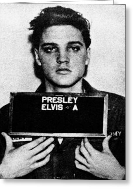 Elvis Presley Mug Shot Vertical 1 Wide 16 By 20 Greeting Card