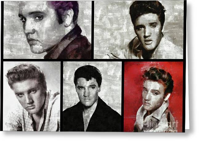 Elvis Presley, Singer Greeting Card by Esoterica Art Agency