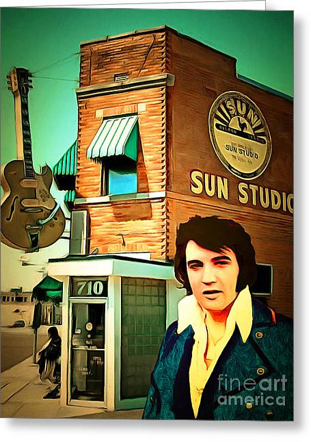 Elvis Presley The King At Sun Studio Memphis Tennessee 20160216 Greeting Card by Wingsdomain Art and Photography