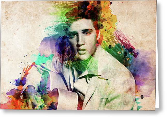 Elvis Presley With Guitar Greeting Card