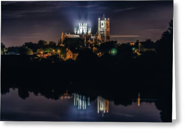 Ely Cathedral By Night Greeting Card