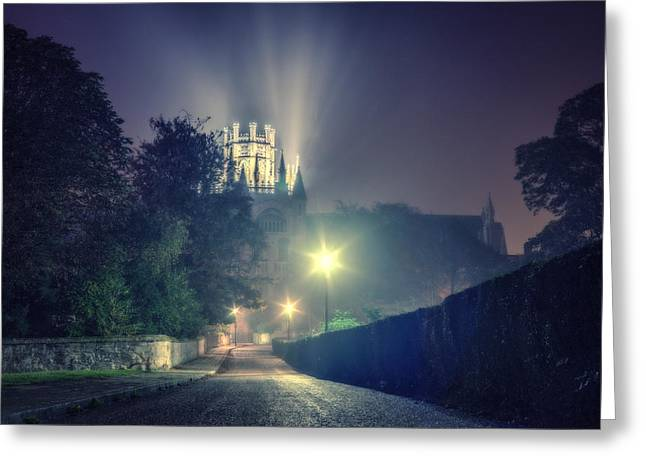 Ely Cathedral - Night Greeting Card