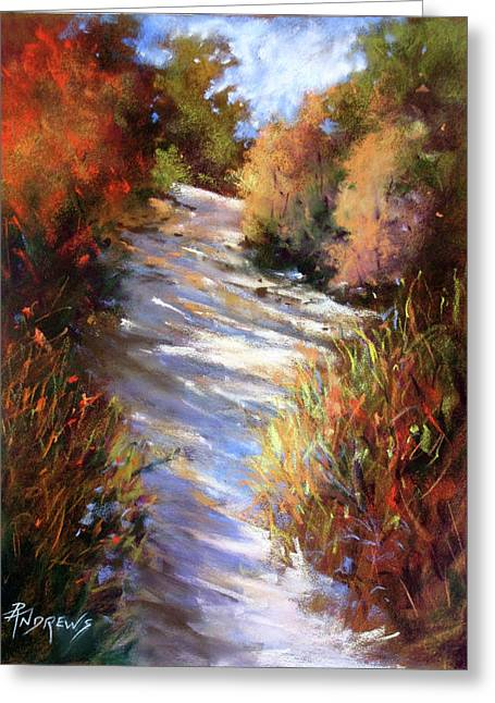 Embankment And Shadows Greeting Card by Rae Andrews