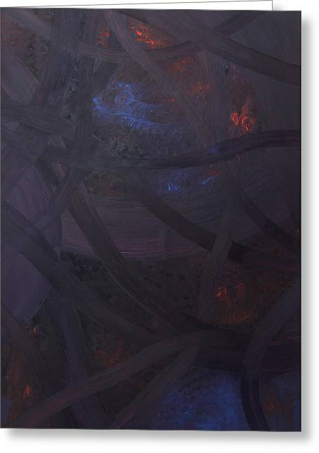 Embers Greeting Card by Maurice Noble