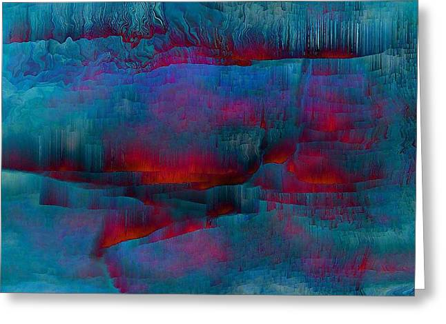 Abstract Digital Greeting Cards - Embers Greeting Card by Susan  Epps Oliver