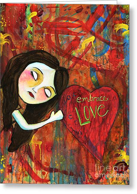 Embrace Love Greeting Card