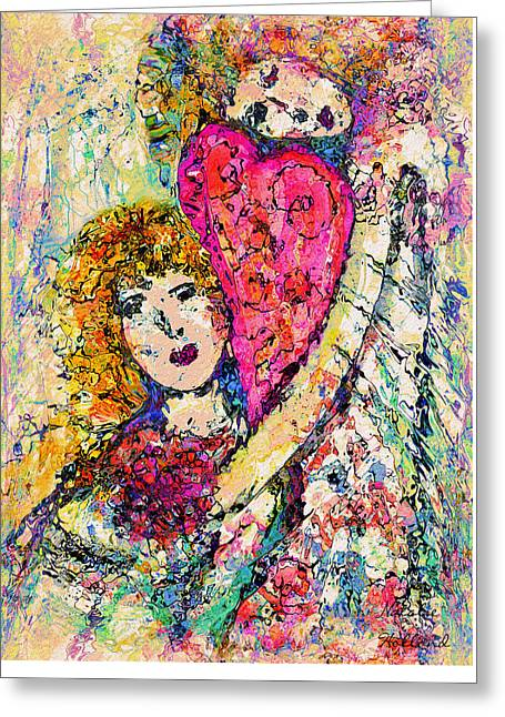 Embrace Greeting Card by Natalie Holland