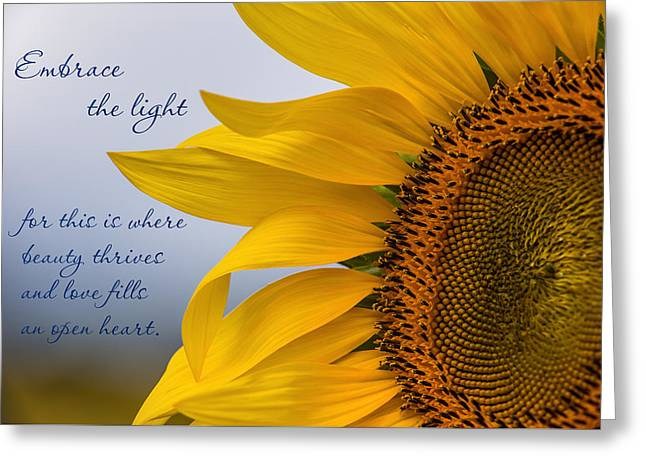 Embrace The Light Greeting Card