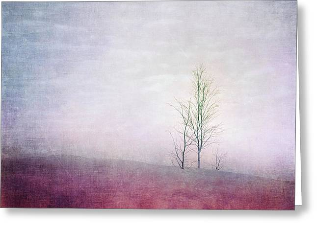 Embracing Solitude Greeting Card by Priska Wettstein