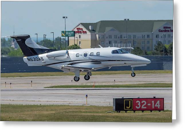 Embraer Emb-500 Greeting Card by Guy Whiteley