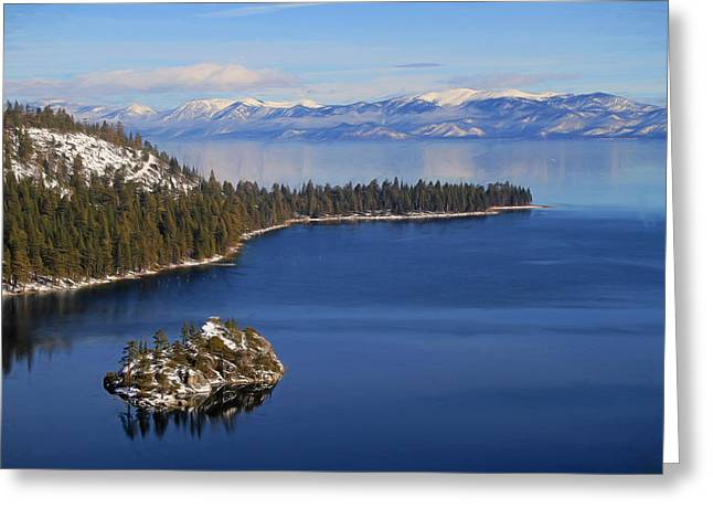Emerald Bay At Lake Tahoe Greeting Card by Donna Kennedy