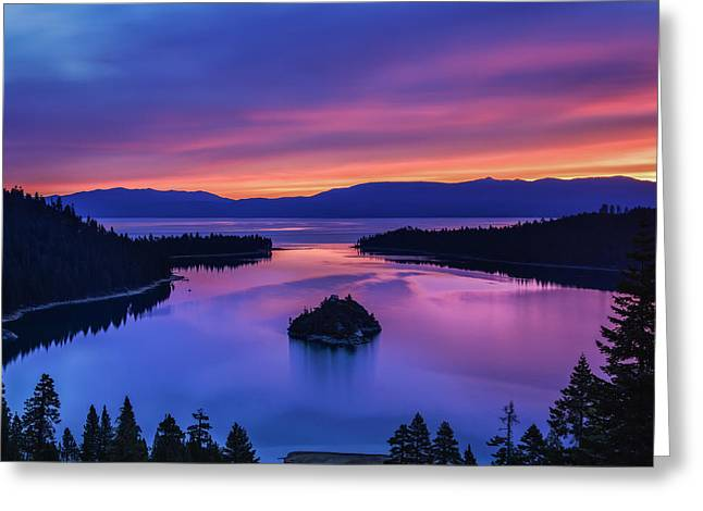 Emerald Bay Clouds At Sunrise Greeting Card