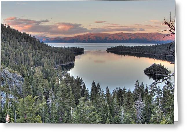Emerald Bay Colors Greeting Card