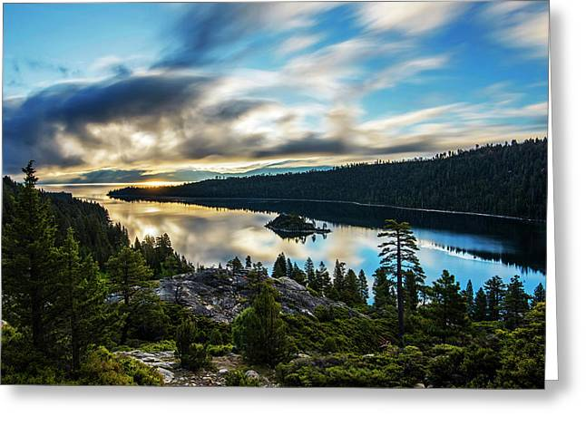 Greeting Card featuring the photograph Emerald Bay Sunrise Lake Tahoe by Brad Scott