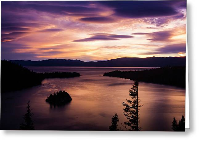 Emerald Bay Sunrise - Lake Tahoe, California Greeting Card