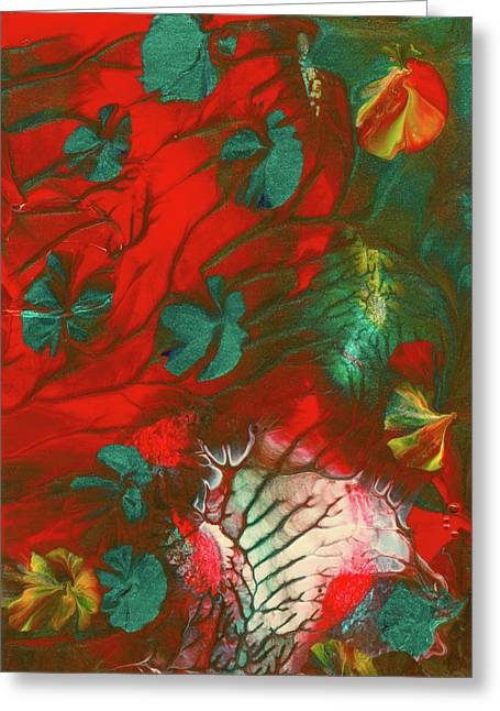Emerald Butterfly Island Greeting Card