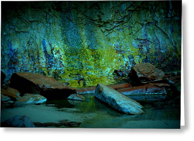 Emerald Cave Greeting Card by Nature Macabre Photography