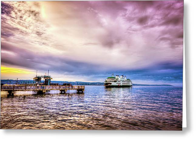 Emerald City Ferry Greeting Card by Spencer McDonald