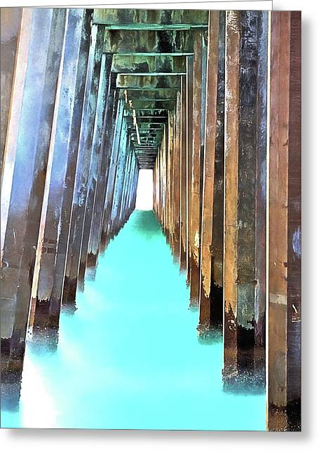 Emerald Coast Waters Greeting Card by JC Findley