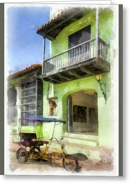 Emerald Entry Greeting Card by Dawn Currie