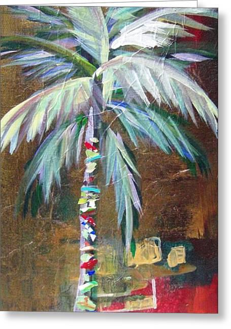 Emerald Fire Palm  Greeting Card