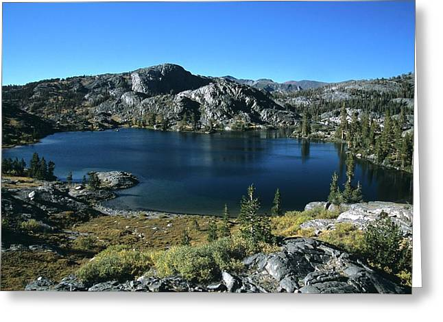 Emerald Lake From Jmt  Greeting Card