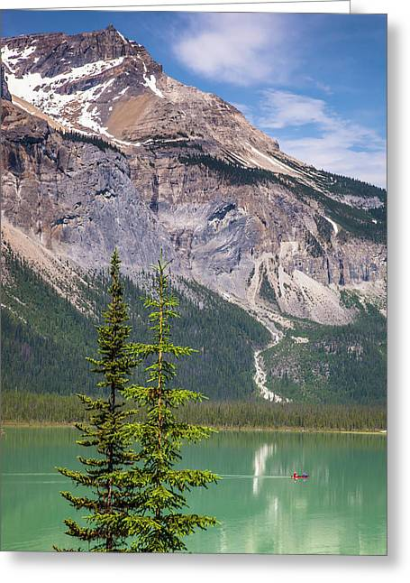 Greeting Card featuring the photograph Emerald Lake by Mark Mille
