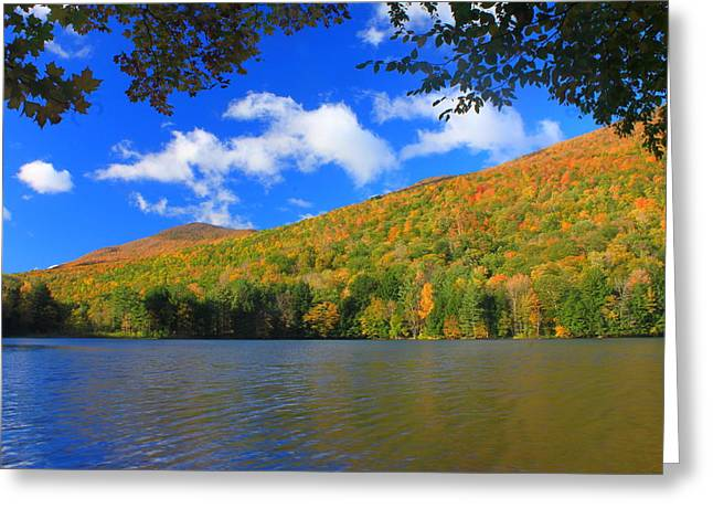 Emerald Lake Vermont In Autumn Greeting Card by John Burk