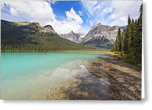 Emerald Lake Vista Greeting Card by George Oze