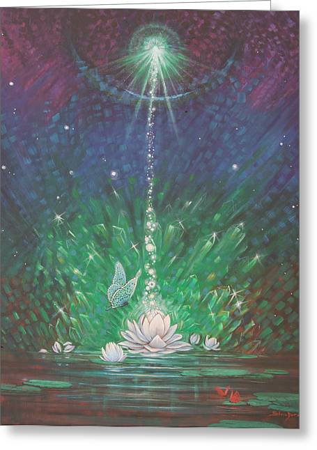 Emerald Light 2 Greeting Card by Silvia  Duran